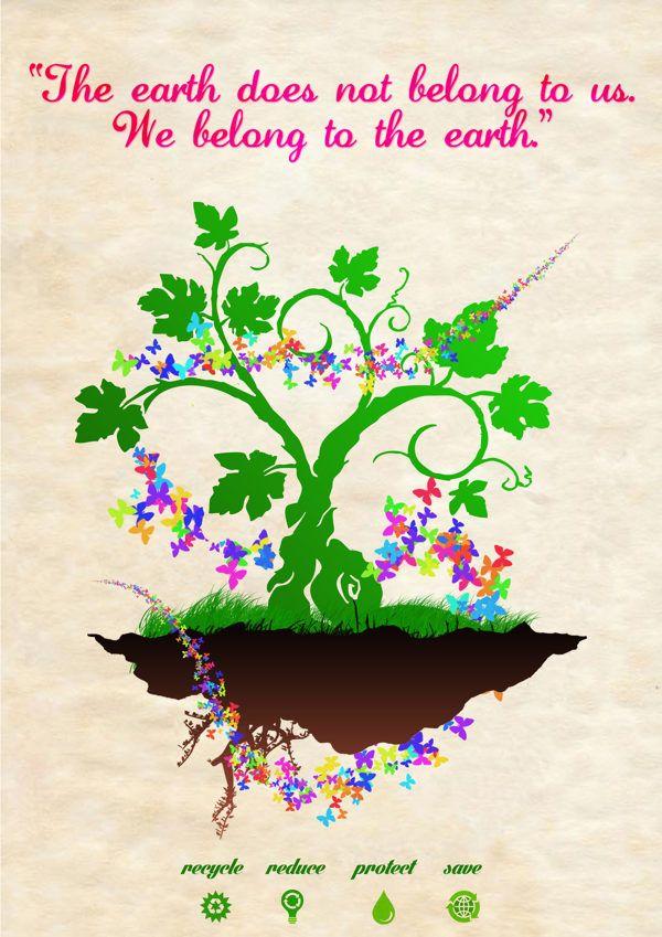 Go Green Poster By Mohammed Eisa Via Behance Go Green Posters Earth Day Posters Go Green Slogans