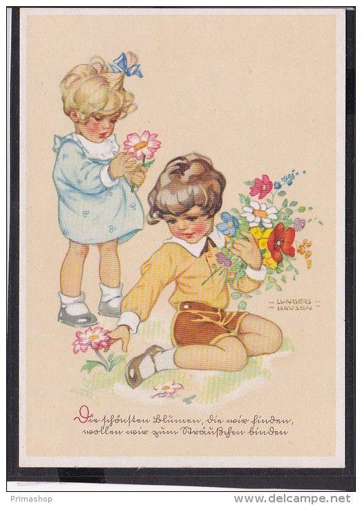 C26  /  Kunstkarte Lungershausen   / Die schönsten Blumen...