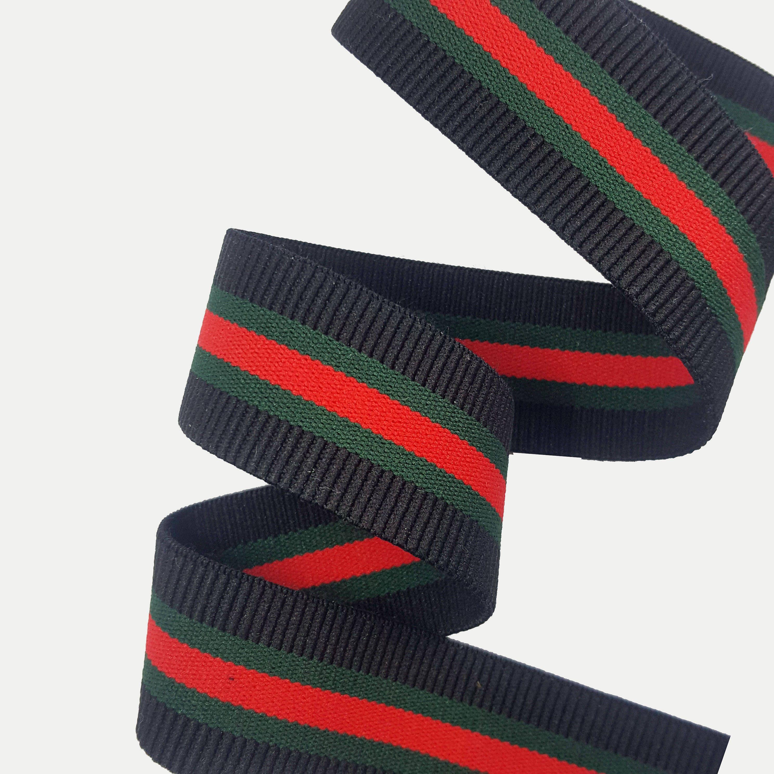 753f7e9e6ad Striped Elastic Rubber Gucci inspired Ribbon Trim