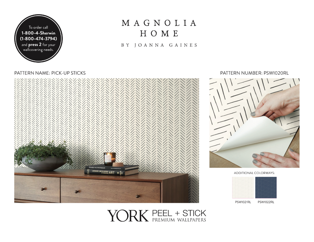 Magnolia Home Premium Peel Stick Wallpapers Magnolia Homes Peel And Stick Wallpaper Wallpaper