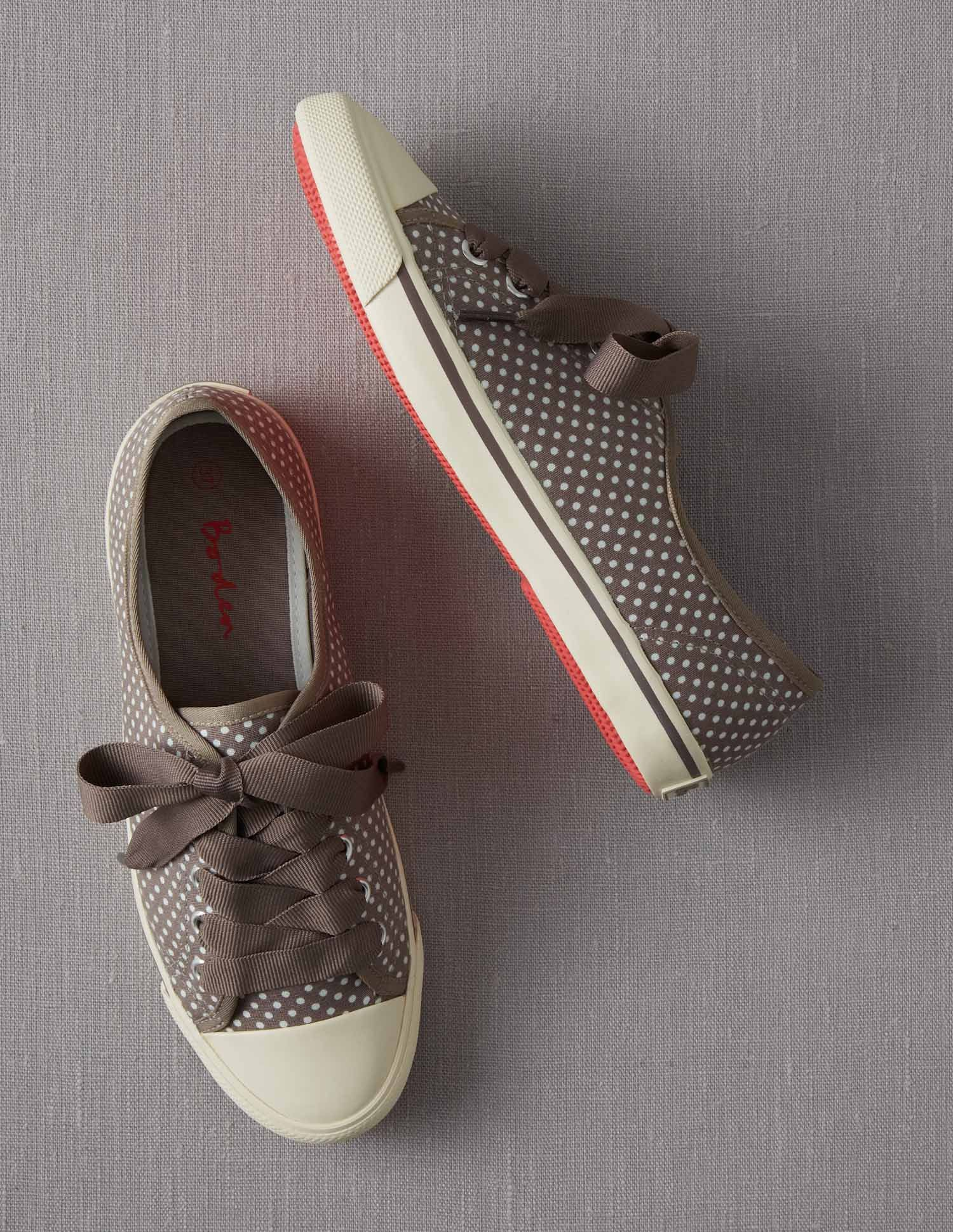 Spotty Canvas Plimsolls $58.00 perfect for spring/summer city walking