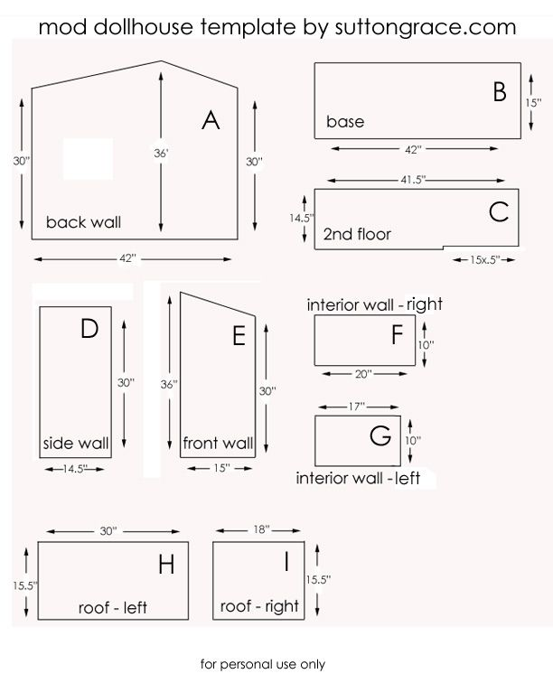 Doll House Plans Somebody Will Need This Someday Making A Doll House Pinterest Doll