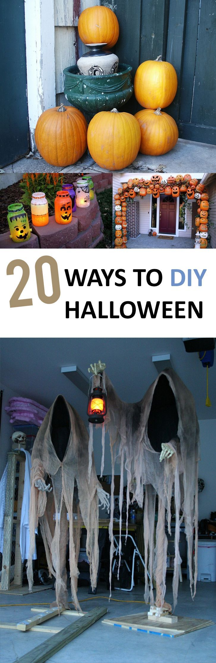 Halloween, DIY Halloween, spooky decorations, DIY Halloween decor - halloween decorations diy