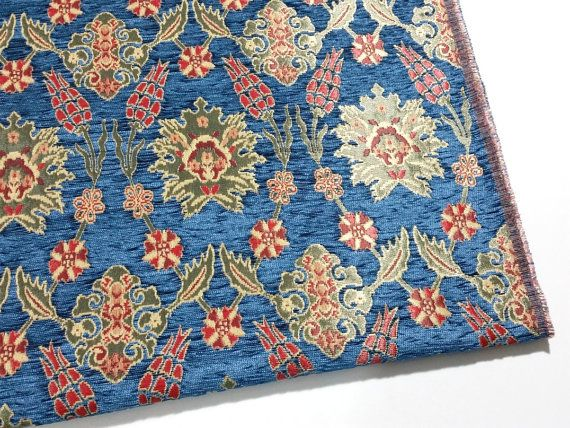 Home Decor Blue Carpet Heavy Upholstery Fabric by the Yard