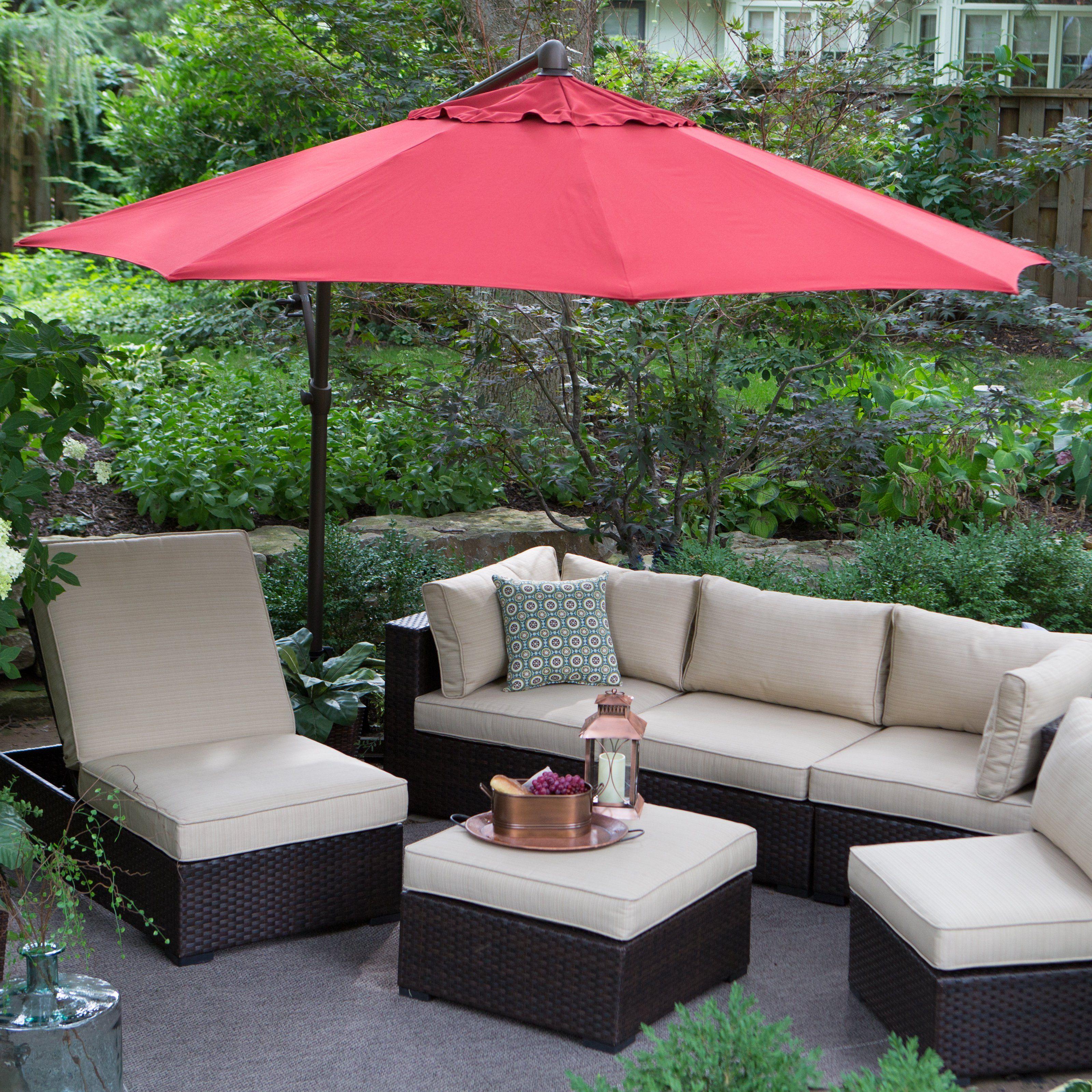 Treasure Garden 10 Ft. Cantilever Octagon Offset Patio Umbrella