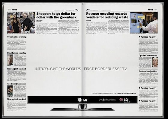 Boarderless Tv  Ideas    Lg Televisions And Ads