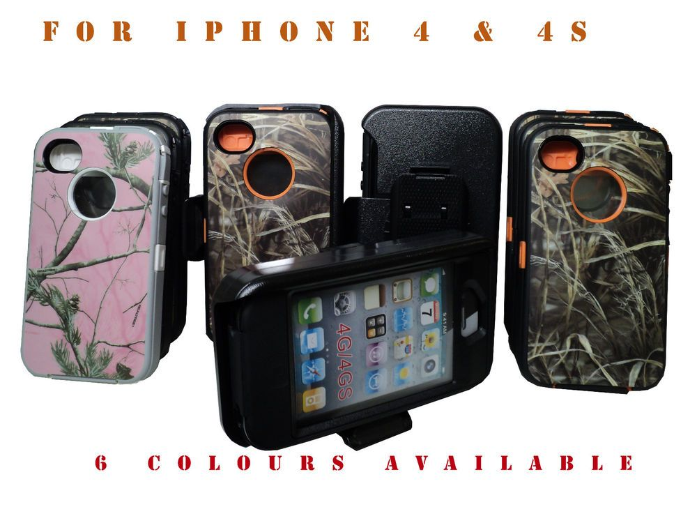 New Hybrid Shockproof Hard Case Cover For Apple Iphone 4 4s Real Tree Camo #UnbrandedGeneric