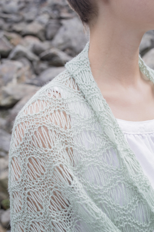 dropped-stitch lace pattern | Knitting | Pinterest | Chal, Dos ...