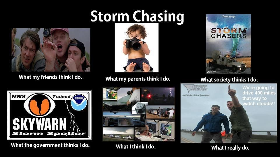 What people think of storm chasers. Storm chasing, Storm