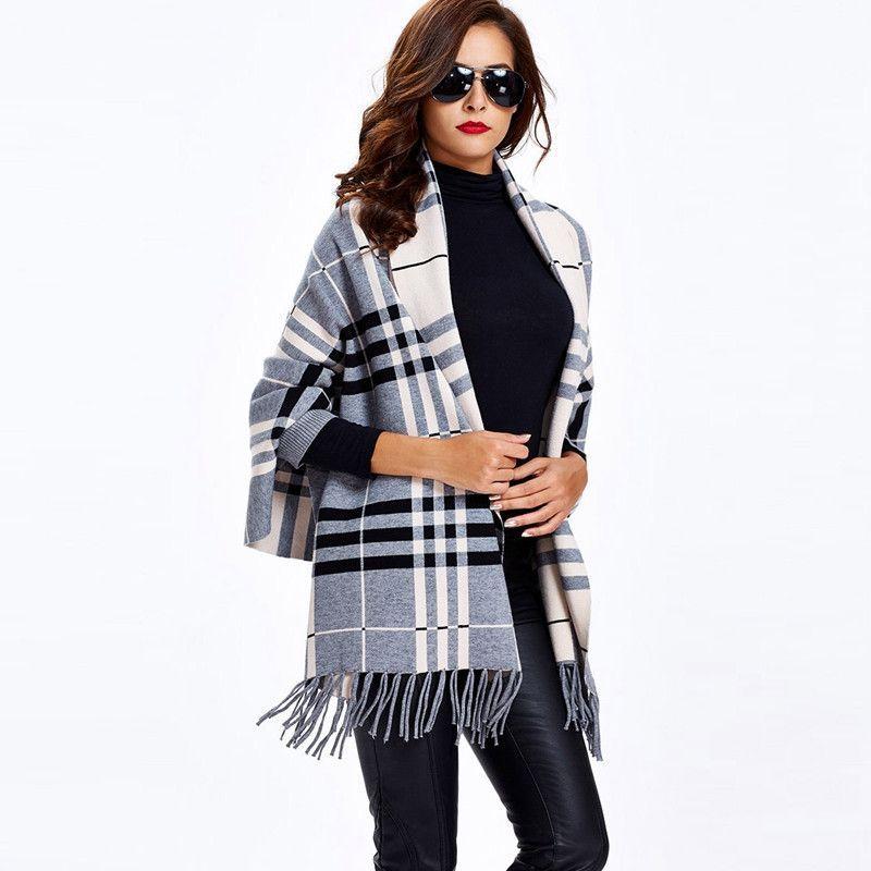 Clocolor Knitwear fall Knitted Sweaters black pink blue CardiganTasselCasual loose Sweaters Female Sweater Coat Outwear Knitwear