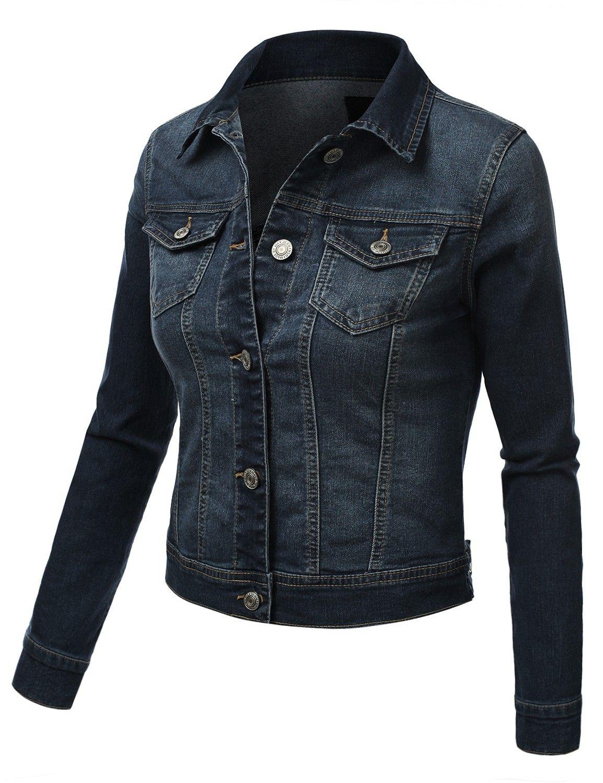 Womens fitted denim jacket doublju that jacket pinterest