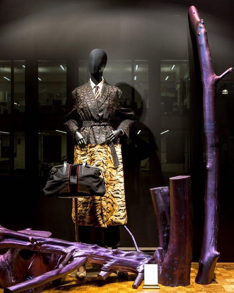 "DRIES VAN NOTEN, (Modepaleis), Antwerp, Belgium, ""Time spend amongst trees is never wasted time"", pinned by Ton van der Veer"