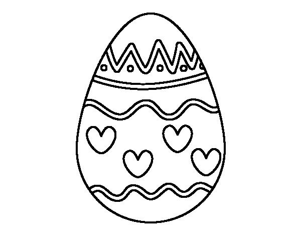 Dibujo De Huevo Con Corazones Para Colorear Tazas Corazon Para