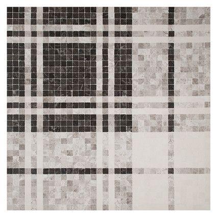 Unique Mosaic Tile Patterns Tartan Mosaic In Cinder Silver Maronato Calais Sand Honed Finish Inspir Mosaic Tile Designs Mosaic Tiles Floor Pattern Design