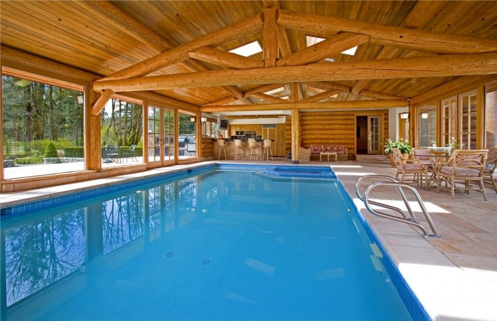 home indoor pool with bar. Fine With Log Home Indoor Swimming Pool  Rockwood Farms U2013 10500000 For Home Indoor Pool With Bar O