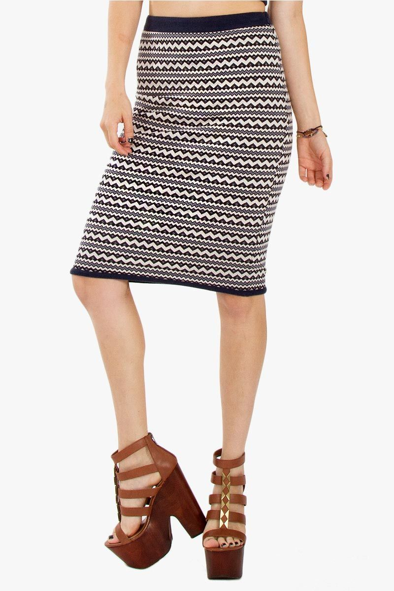 Groovy Chevron Skirt