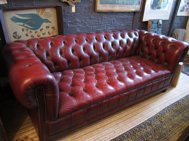 Nice Chesterfield Oxblood Sofa #6 - Oxblood Chesterfield, Playroom Couch