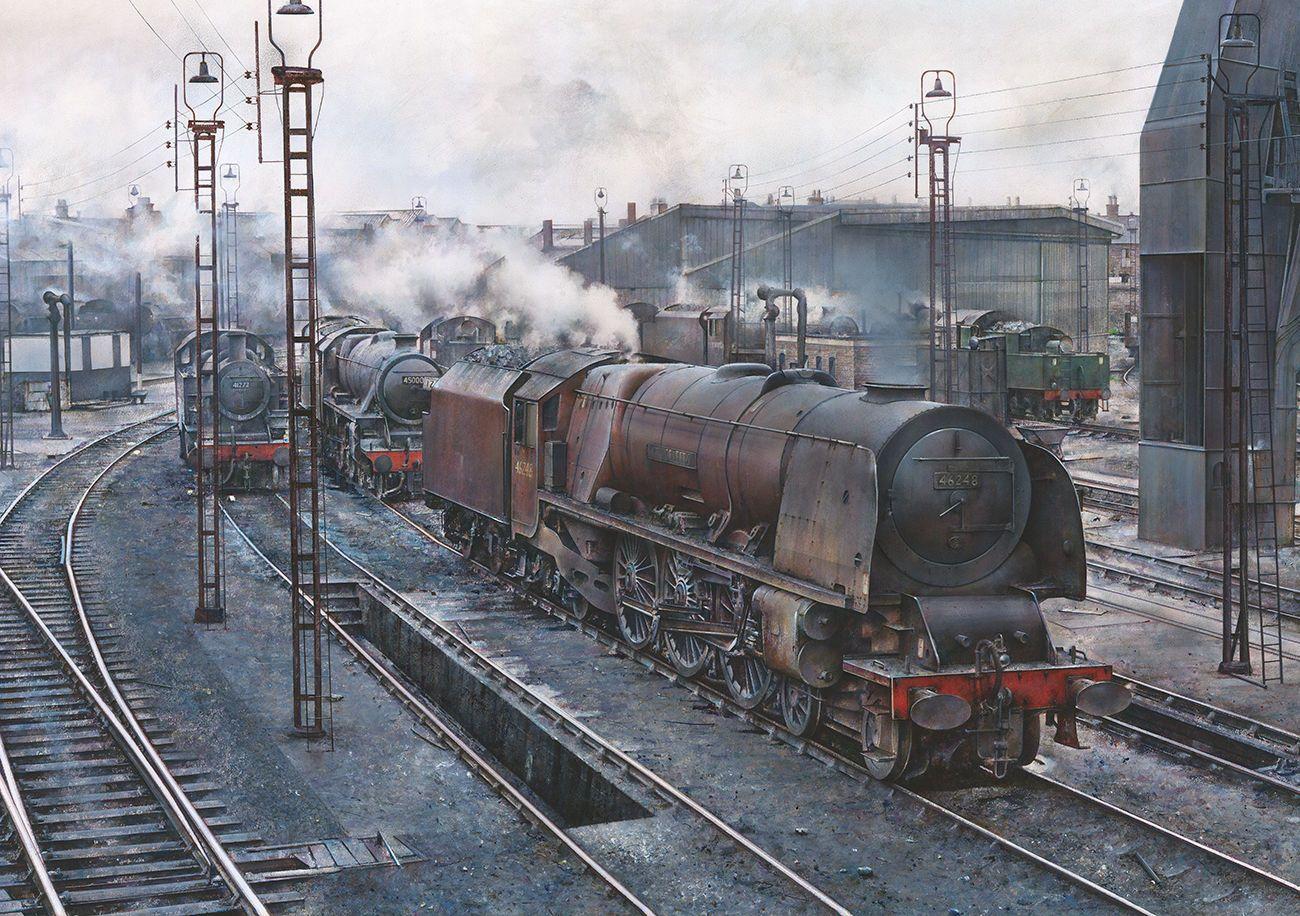 Patriot Isle of Man LMS BR Railway Engine Locomotive Steam Train Christmas Card