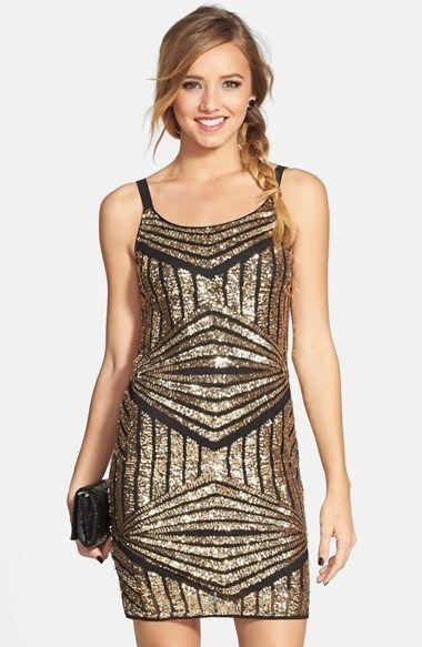 Soprano Sequin Sheath Dress Juniors Cute Sequin Dress