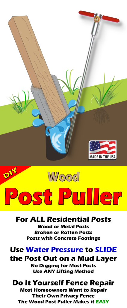 How To Remove Broke, Rotten Wood Fence Posts Set In Concrete Footings