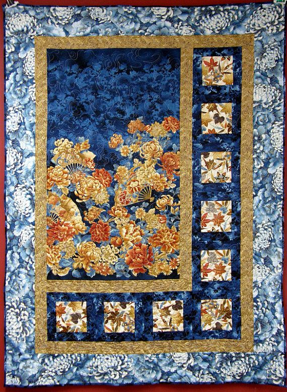 Quilted Wall Hanging Oriental by HollysHutch on Etsy, $185.00