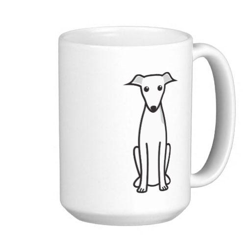 "mug /""I love/"" Italian Greyhound ceramic cup CA"