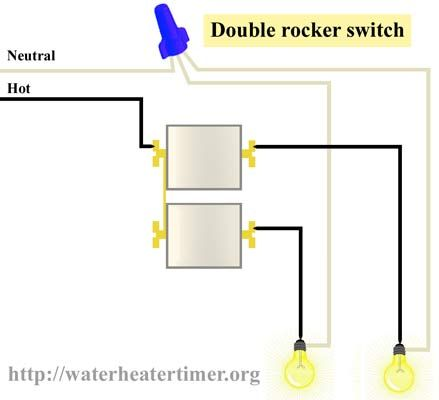 double switch wiring diagram xtrons pf81mtv how to wire rocker use 3 gang receptacle box change 1 like laundry room from a single