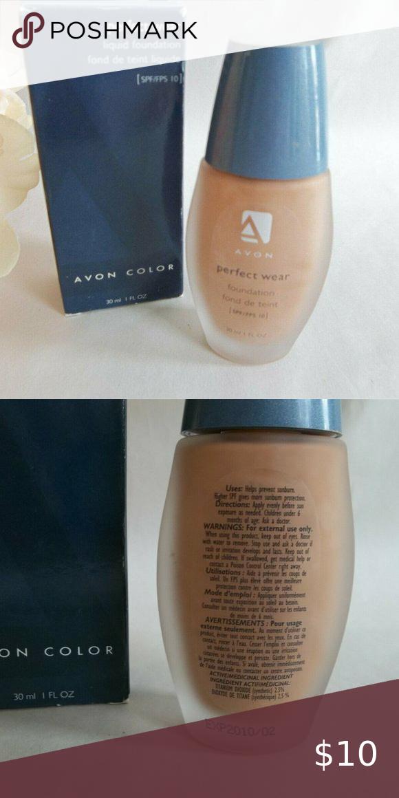 Avon Perfect Wear Liquid Foundation Buff Nos In 2020 Liquid Foundation Avon Buff