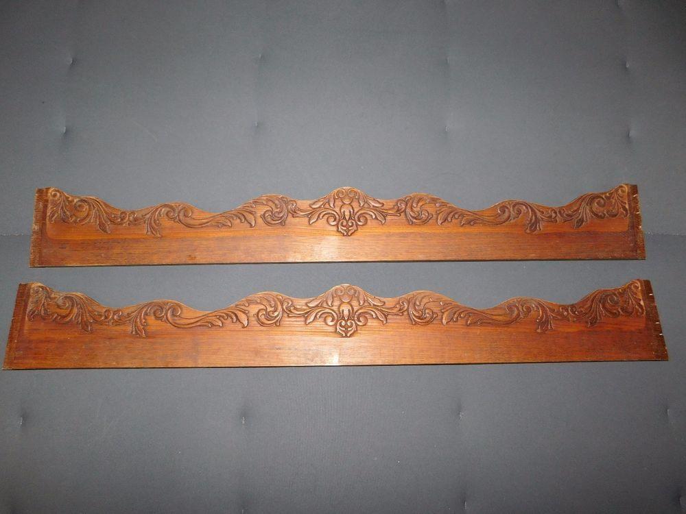 2 Frontons Frises En Bois Sculpte Long 98 Cm F353 Deco Relooking Meuble Diy Decorative Tray Home Decor Decor