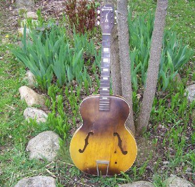 Vintage Harmony Hollywood Acoustic Arch Top Guitar Project Luthier Repair Parts Guitares Vintage Guitare Vintage