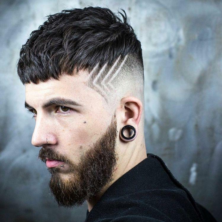 Haarschnitt Herren Ponny Haarmuster Bart Manner Frisuren Manner