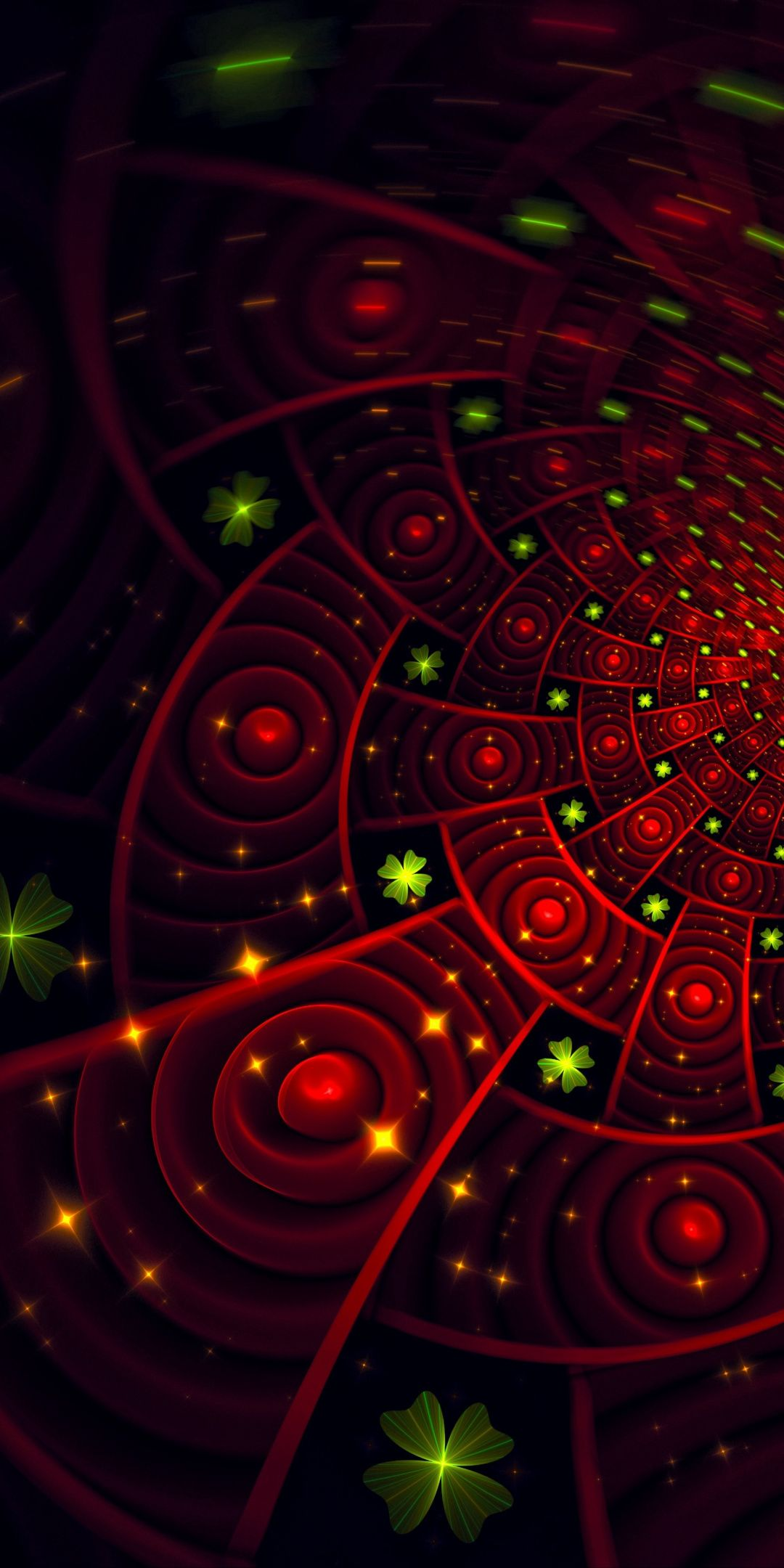 1080x2160 Fractal Patterns Glowing Red Green Pattern Wallpaper Graffiti Wallpaper Pattern Wallpaper Fractals