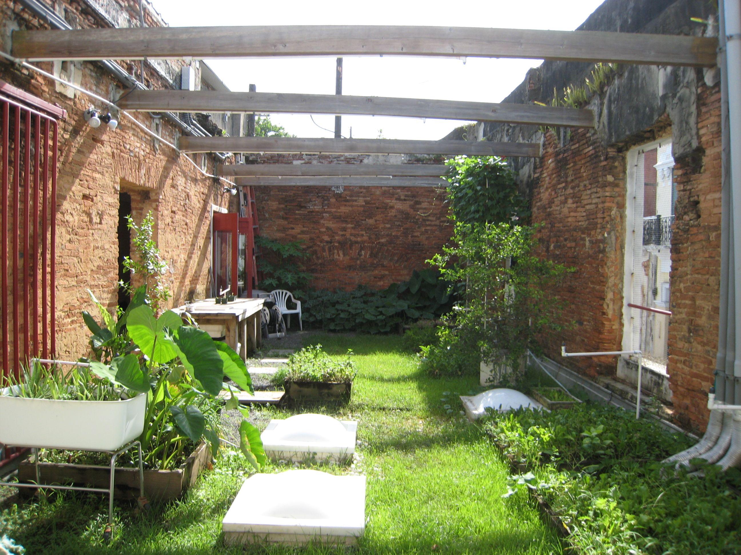 Rooftop Garden on an Historic Home in Old San Juan, Puerto