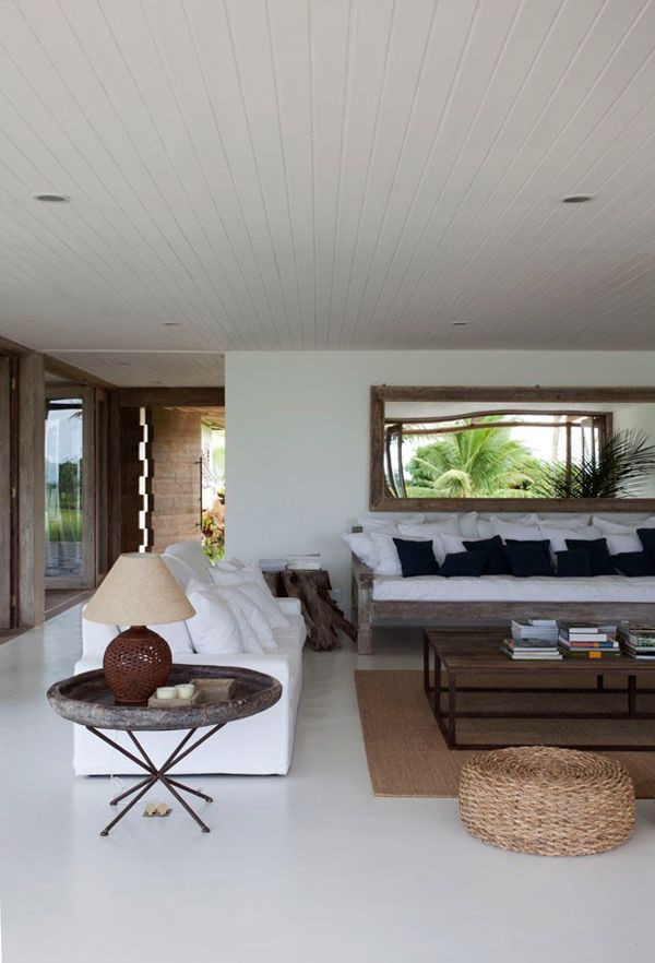 A stunning beach side home in brazil the style files