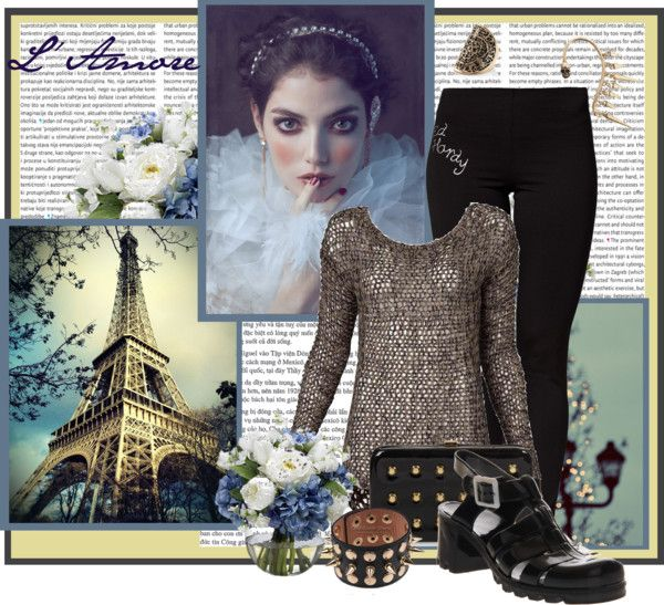 """""""Night in the Paris ..."""" by blackkrose ❤ liked on Polyvore"""