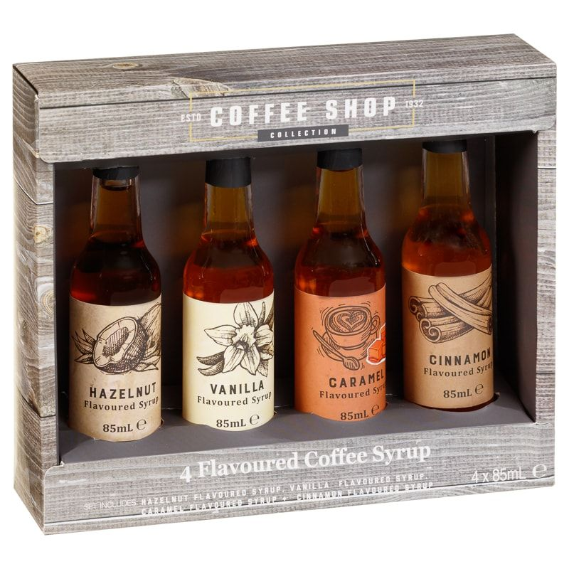 Coffee shop collection coffee syrups 4pk confectionery