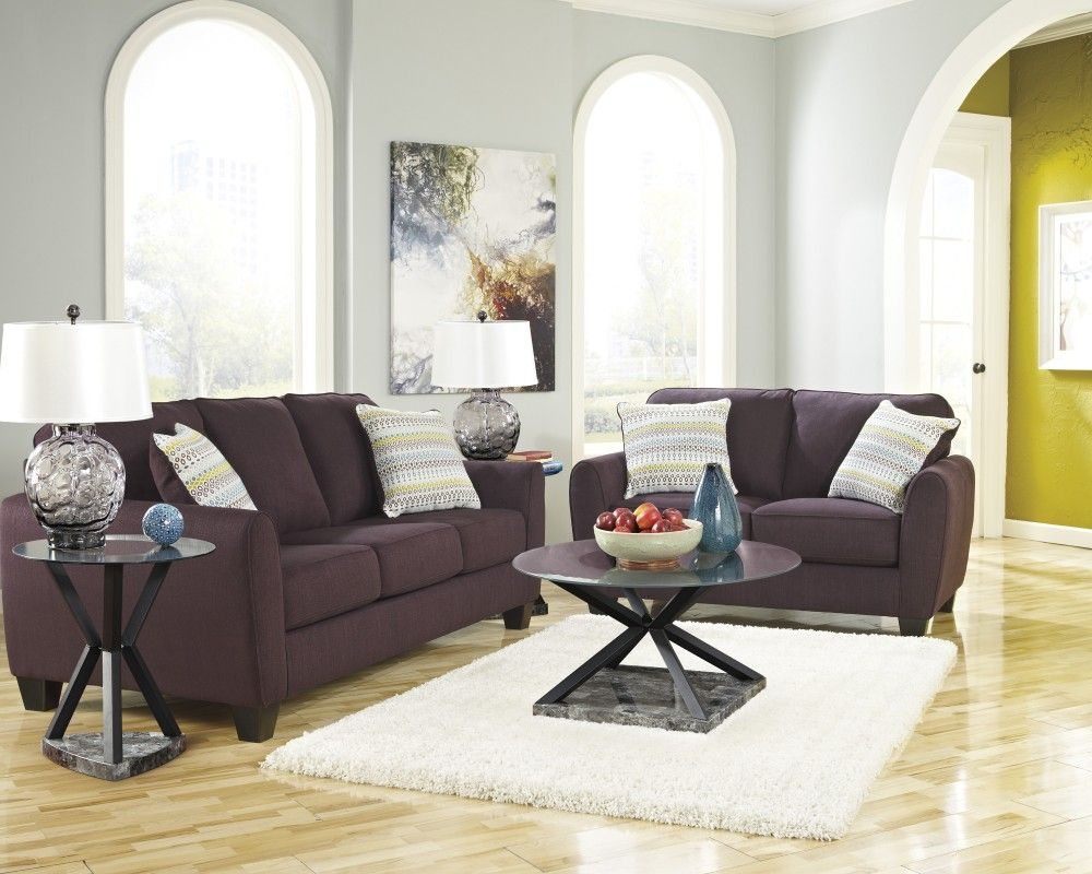 Living Room Furniture Rent To Own ean - eggplant - sofa & loveseat | furniture | pinterest