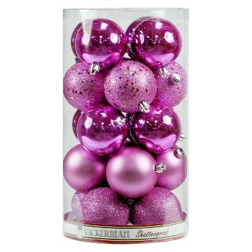 20ct Orchid Assorted Finishes Ball Shatterproof Christmas Ornament Set