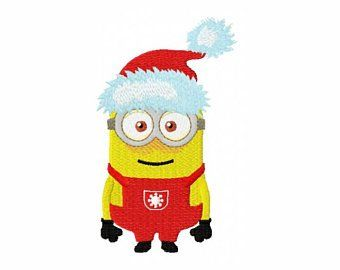 View christmas minion embroidery design by embroiderypixels on etsy