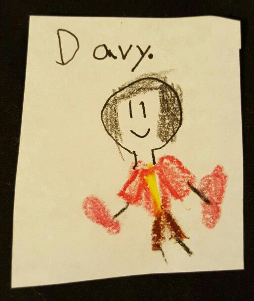 Davy Jones, through the eyes of my daughter (she was 6 at the time)