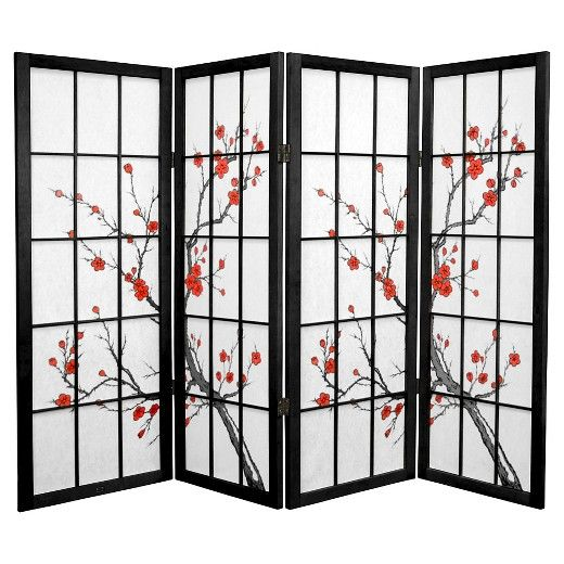 create a more intimate space with the 4 ft tall cherry blossom shoji screen folding room