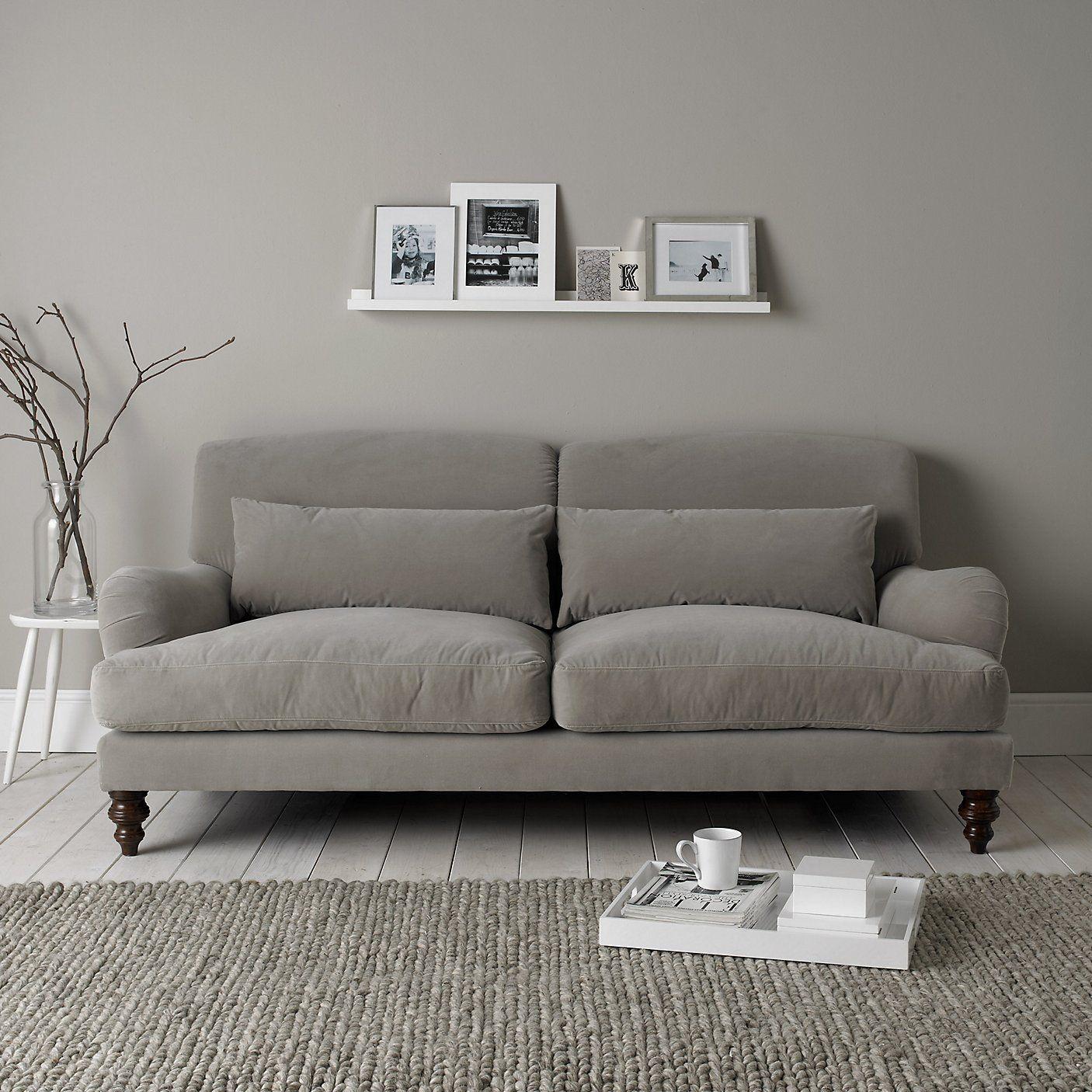 Petersham Sofa - Silver & Stone   The White Company