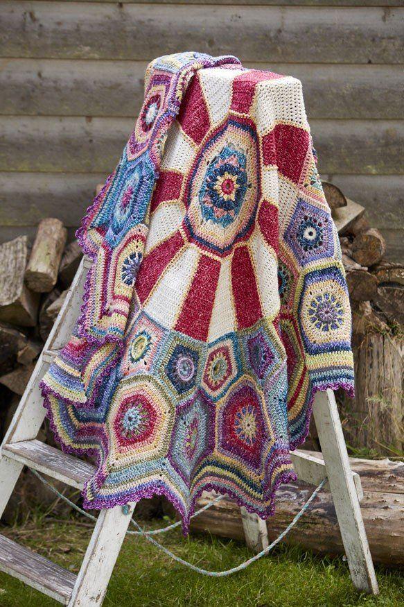 Stylecraft Carousel Blanket CAL Pack - Batik DK | Pinterest | Manta ...