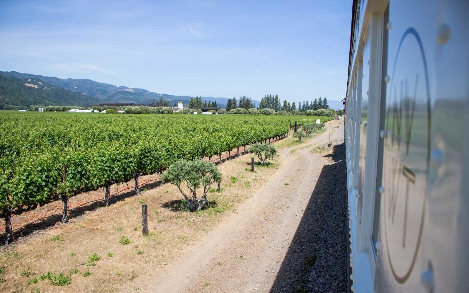 The Napa Valley Wine Train Might Be the Best Day Trip Ever http://www.travelandleisure.com/trip-ideas/bus-train/napa-valley-wine-train
