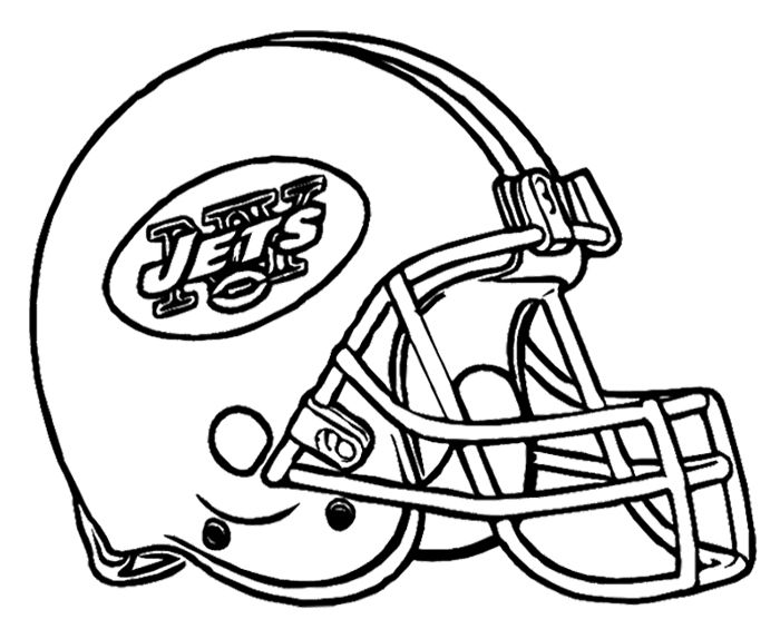 football helmet new york jets coloring page - Football Helmet Coloring Pages