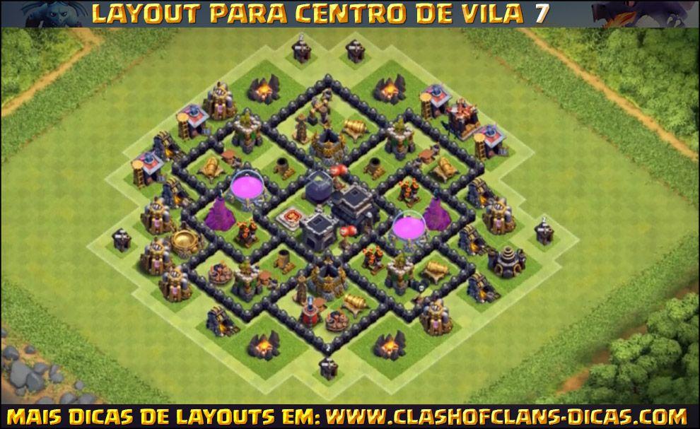 layouts de cv7 para clash of clans clash of clans dicas best layout