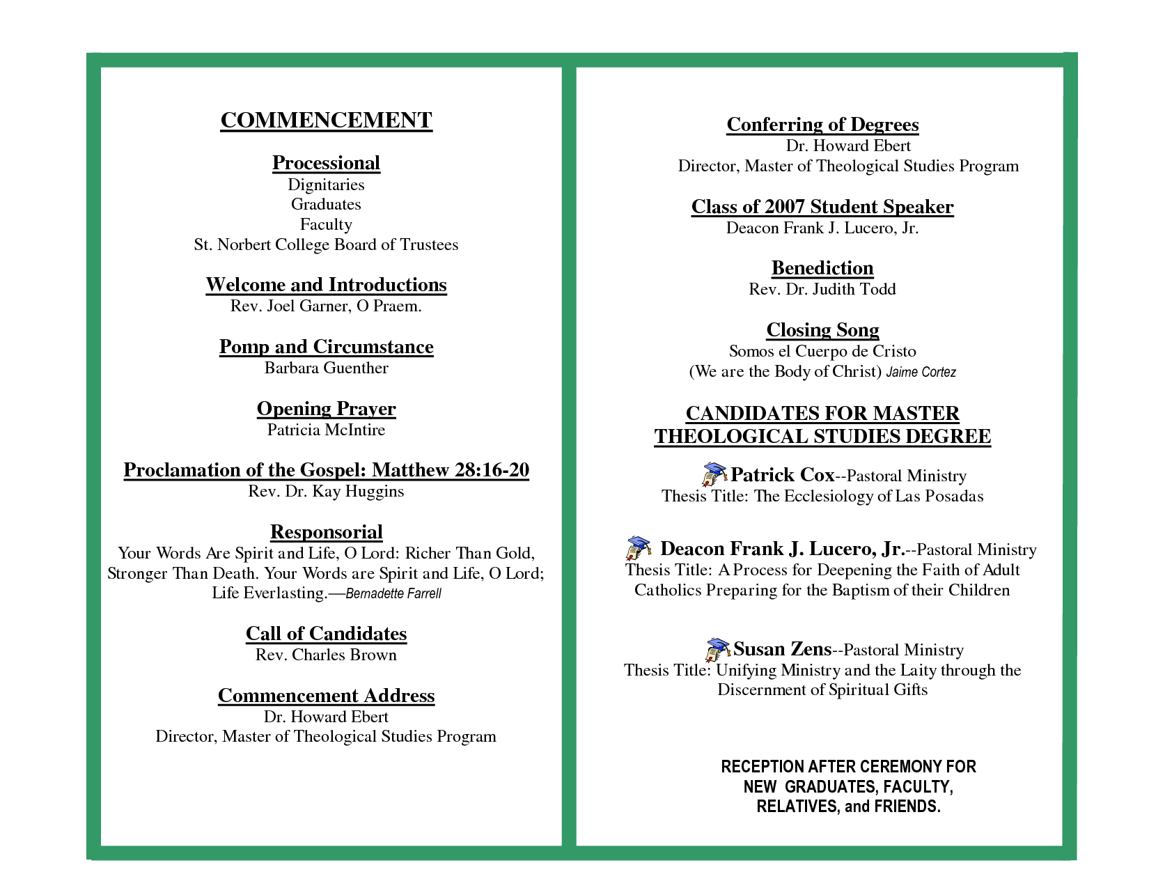 Commencement Program Template from i.pinimg.com