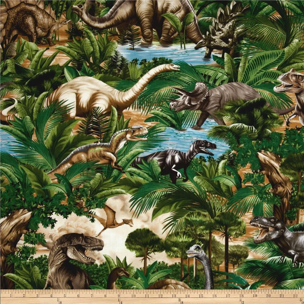 NEW LARGE DINOSAURS T-REX RAPTOR PANEL FOR QUILTS HOME DECOR /& OTHER PROJECT