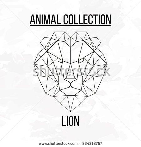 geometric vector animal lion head background mode pinterest animaux geometrique dessin et. Black Bedroom Furniture Sets. Home Design Ideas