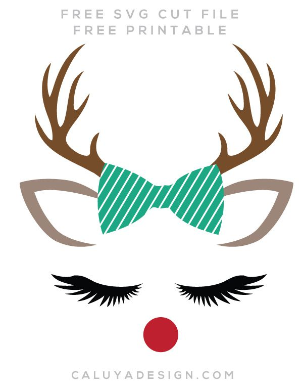 picture about Printable Reindeer Face named Reindeer Faces Totally free SVG, PNG, DXF, EPS Down load through C. Style and design